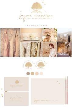 Branding for Jayme Morrison Photography by Leslie Vega Design  Branding photography brand gold pink blush business card notecard blog design web design ProPhoto site