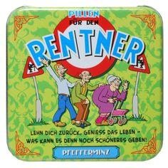 Pfefferminz-Pillen-Rentner-Geschenk-Ruhestand-Bonbons