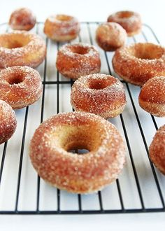 They're light yet dense in structure, as a baked cake donut should be. The apple is pronounced without overpowering the cinnamon-sugar coating.