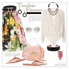 """Timeless...basket bag.."" by nihal-imsk-cam on Polyvore featuring moda, Bambah, Marni, Chanel, Michelle Mason, La Perla ve diverse"