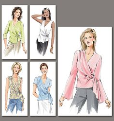 Vogue 7876 - recently finished project -- Long sleeve w/ sheer insert at shoulder front and back - body out of fabric from Mood Fabrics