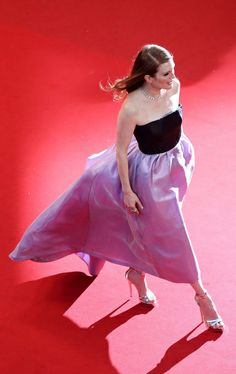 Juliane Moore wearing Dior at Cannes.