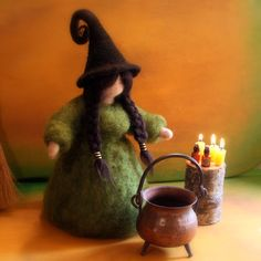 Daily Colours : Needle Felted Pagan Witch