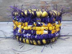 Great bracelet for all you LSU fans! LSU Tigers Scrappy Bracelet! Go Tigers!