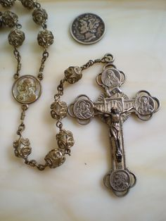 Collecting Antique Rosaries: Gorgeous Vintage Virgin of Guadalupe Rosary