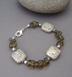 Sea Chelles Design - Babbling Brook Glass Beaded Bracelet