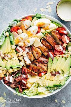 Grilled Chicken Caesar Cobb SaladFollow for recipesGet your  Mein Blog: Alles rund um Genuss & Geschmack  Kochen Backen Braten Vorspeisen Mains & Desserts!