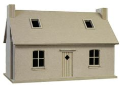 Crofters Cottage - Unpainted Kit (24/48 scales)from Bromley Craft Products Ltd.