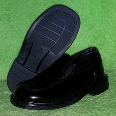 Deer Stags Brian Toddler Boys Black Slip-On Dress Shoes Size 7.5 EUC #DeerStags #DressShoes