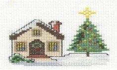 Paisajes navideños en punto de cruz - Imagui