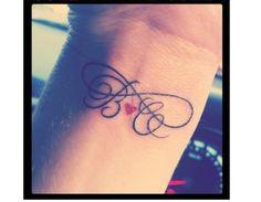 Tatuaż symbol nieskończoności z imieniem lub inicjałami - Strona 3