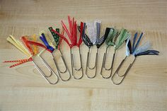 paperclip bookmarks---could be a really great activity for indoor recess?