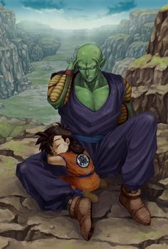 Epic adbz artwork of Piccolo and Gohan