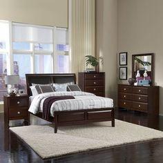 Homelegance Bridgeland Bedroom Set, Dark Cherry - Home Furniture Showroom