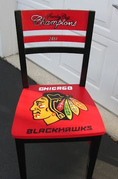 ONE-of-a-KIND Chicago Blackhawks Adirondack Chair by BCAdirondacks ...