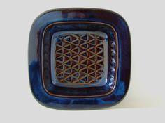 Soholm Denmark Stentoj Bowl - Blue Series EJ 64 3335 - Einar Johansen - Danish Pottery via Etsy