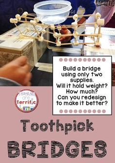 Another bridge challenge! The STEM task is to build a bridge with two supplies! Can you do it and will it hold weight? Includes directions, materials list, lab sheets, and more!