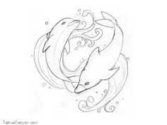 Free+Designs++Swimming+Dolphins+Tattoo+Wallpaper+picture+12953