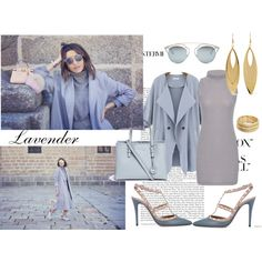 How To Wear Lavender and grey Outfit Idea 2017 - Fashion Trends Ready To Wear For Plus Size, Curvy Women Over 20, 30, 40, 50