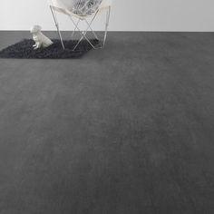 Sol vinyle Premium béton print gris coupe, 2 m