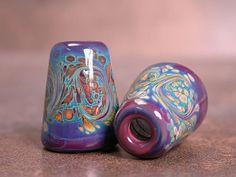 Handmade Lampwork Glass Bead Cones Caps by DivineSparkDesigns, $21.00