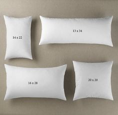 What size pillow insert you need for your pillow cover, decorative pillows Cute Pillows, Diy Pillows, Decorative Pillows, Cushions, Making Throw Pillows, Pillows On Bed, Diy Pillow Covers, Cushion Covers, Pillow Inserts