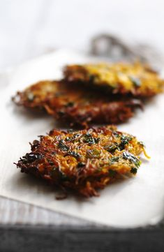 Pop these little carrot and coriander fritters into a pitta with salad and tahini dressing for a great alternative to falafel.