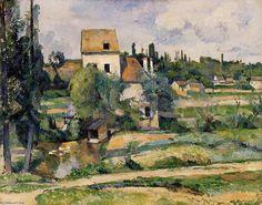 Le moulin de la Couleuvre Pontoise, Paul Cézanne.