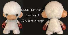 "Luke Chueh's Final Custom: the ""Sad Yeti"" Munny! #Commission #Custom #CustomMunny #CustomVinyl #LukeChueh"