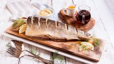Whole Cedar Plank Salmon with Maple and Whiskey