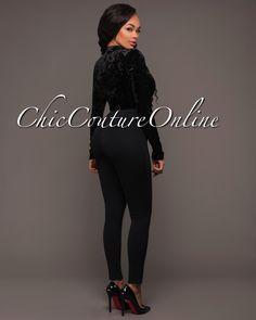 Chic Couture Online - Bessie Black Velvet Plunging V Bodysuit, (http://www.chiccoutureonline.com/bessie-black-velvet-plunging-v-bodysuit/)