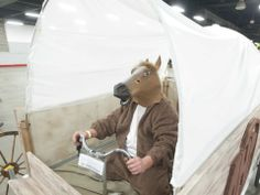 """AirHydroPower's """"Wild West Wranglers"""" bed entry is driven with the horse sense of Mark Baynes at the Kentucky Derby Festival Great Bed Races..."""