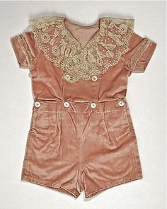 Boy's velvet and lace 'Bobby' suit ... c. 1910-15