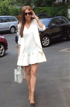 White dress street style sylwia majdan blazer  shoes zara www.sylwiamajdan.com