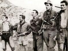 Italian partisans on the mountains.
