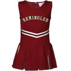 Florida State Seminoles (FSU) Infant Girls Garnet Cheerleader Dress