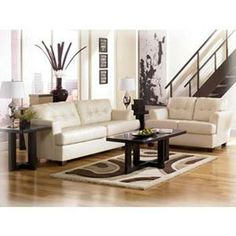 Nebraska Furniture Mart Ashley 2 Piece Ivory Durablend Living Room Set