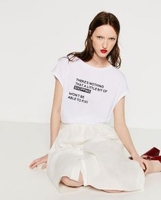 Image 3 of TEXT T-SHIRT from Zara