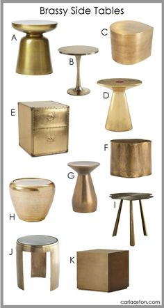 Brass Side Table Round Up