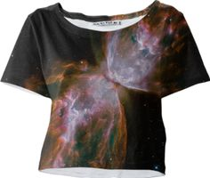 Butterfly Galaxy Sleeved Crop Top - Available Here: http://printallover.me/products/0000000p-butterfly-galaxy-12