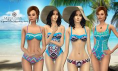 36. Paolita's swimwear set• Custom thumbnails. • Standalones. • HQ textures. • Base game compatibles. • Includes 2 swimsuits and 2 bikinis. DOWNLOAD (Wait for 5 seconds and click skip). • Don't...