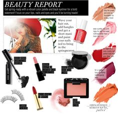 """""""BEAUTY REPORT"""" by sincerelyjules ❤ liked on Polyvore"""