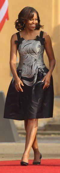 Michelle Obama in Carolina Herrera