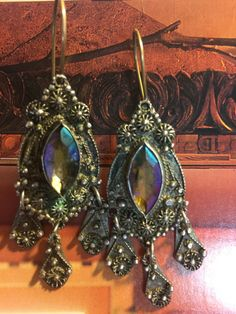 Antique Sterling Silver Turkish Earrings  by MyWorldsTreasures