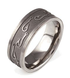 Fish Hook Ring, Fishing Rings - Titanium-Buzz.com