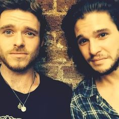 Richard Madden and Kit Harington #StarksRule