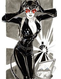 Catwoman and Batman by Garrie Gastonny *