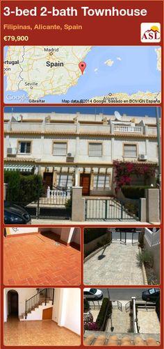 3-bed 2-bath Townhouse in Filipinas, Alicante, Spain ►€79,900 #PropertyForSaleInSpain
