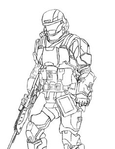 Halo Odst Coloring Pages