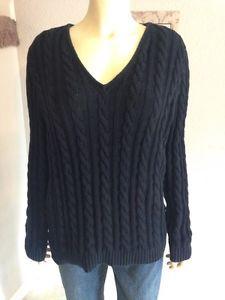 Ralph Lauren Black Cable Knit Sweater 1x | eBay